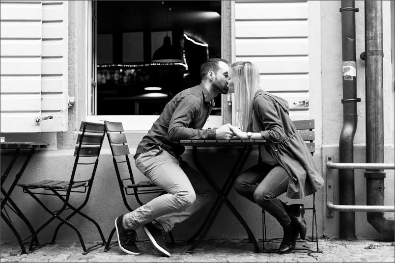 Kaffee trinken, Paar Fotoshooting Freiburg